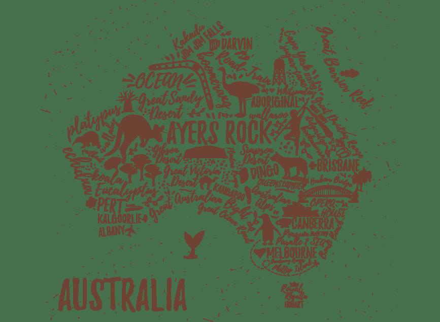 carte australie itinéraire