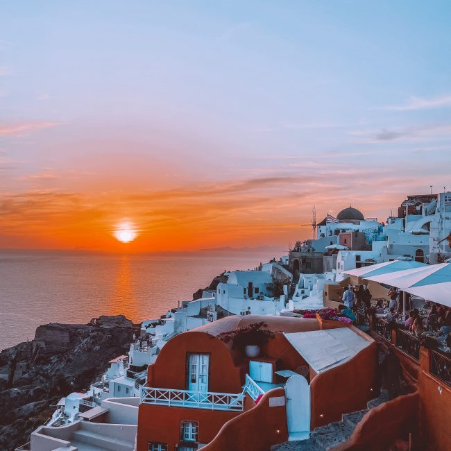 coucher de soleil santorin