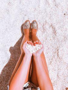 Shell beach, coquillage en coeur