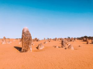 Pinnacles Desert, Côte ouest Australienne, sable jaune