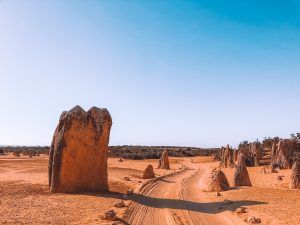 Desert des pinnacles, sable jaune, perth, Australie