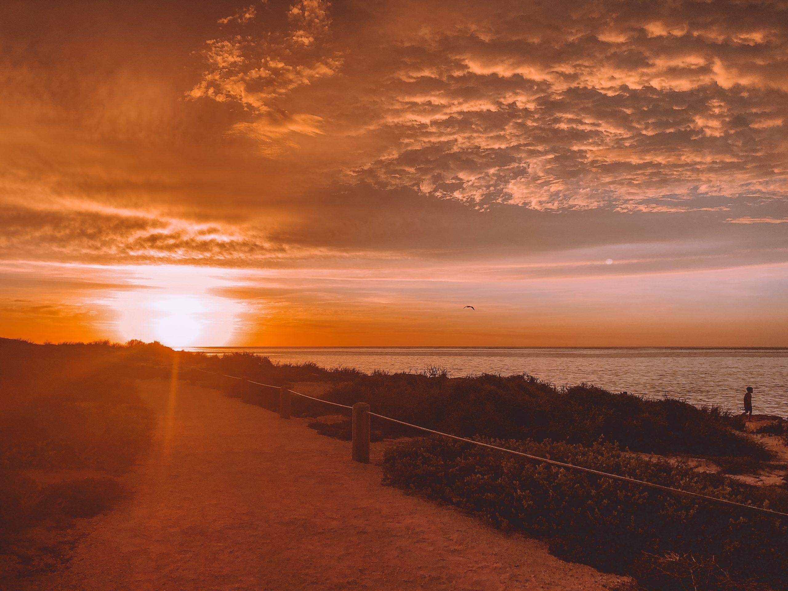 Coucher de soleil cape range national park