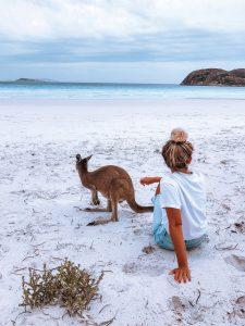 Plage Lucky Bay, espérance, road trip cote ouest australie